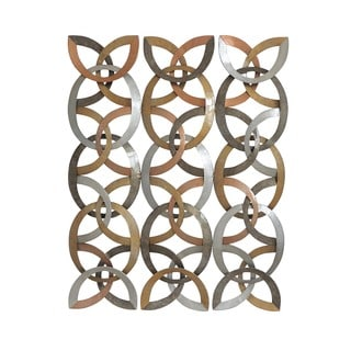 Aurelle Home Iron Grids Art Wall Decor
