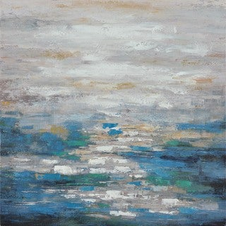 Aurelle Home Abstract Seascape Canvas Wall Decor