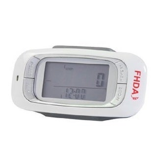 FHDA Ep-800 White 7-day Memory 3D Sensor Pedometer With Target Steps Function and Progress Bar