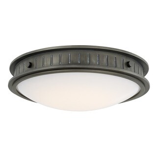 Capital Lighting Nash Collection 1-light Gunmetal LED Flush Mount
