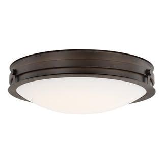 Capital Lighting Transitional 1-light Burnished Bronze LED Flush Mount