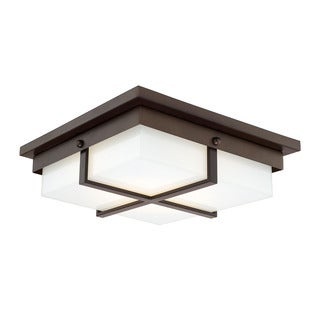 Capital Lighting Transitional 1-light Burnished Bronze LED Flush Mount
