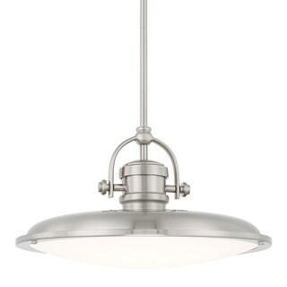 Capital Lighting Transitional 1-light Brushed Nickel LED Pendant