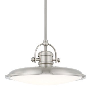 Capital Lighting Transitional 1-light Brushed Nickel LED Pendant