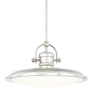 Capital Lighting Transitional 1-light Polished Nickel LED Pendant