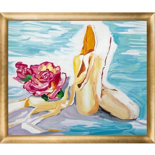 Iris Grover 'The Shoes' Hand Painted Framed Canvas Art
