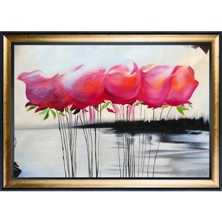 Michael Hitt 'A Touch of Color' Hand Painted Framed Canvas Art