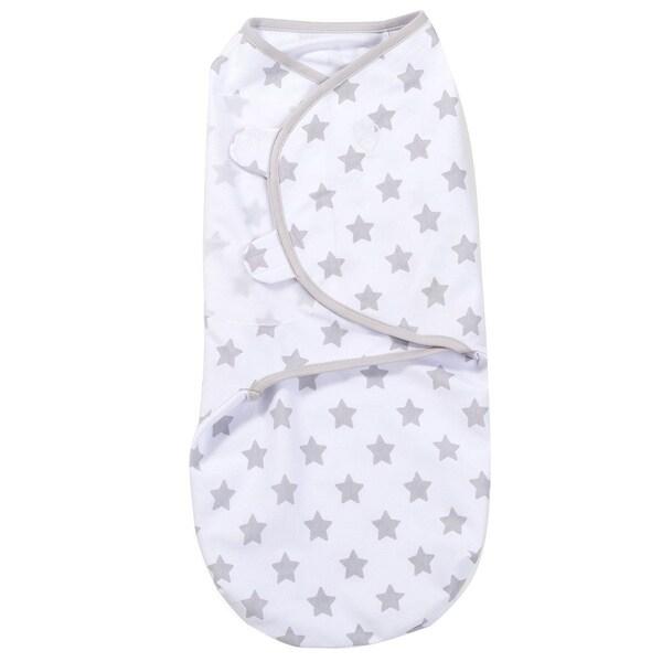 Shop Summer Infant SwaddleMe Grey Cotton Star-print Knit Wrap - Free ...