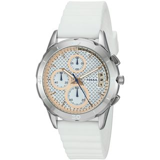 Fossil Women's ES4024 'Modern Pursuit' Chronograph White Silicone Watch