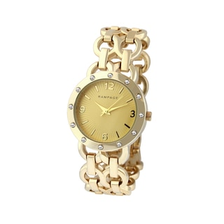 Rampage Women's RP1088GD Goldplated Bracelet Watch