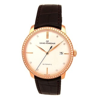 Pre-owned Girard Perregaux Unisex 18k Rose Gold Vintage Automatic Watch