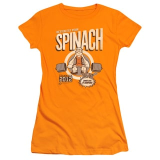 Popeye/Eat Your Spinach Junior Sheer in Orange