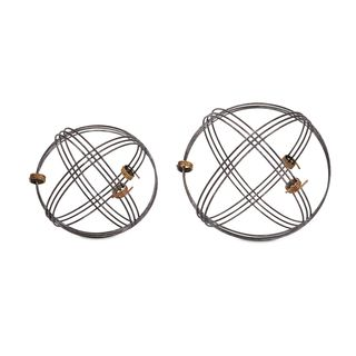 Trisha Yearwood Cowboy Wire Deco Balls - Set of 2