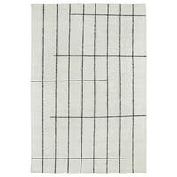 Handmade Collins Ivory & Charcoal Nomad Rug - 8' x 11'