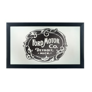 Ford Framed Logo Mirror - Vintage 1903 Ford Motor Co.