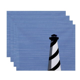 18x14-inch Light House Geometric Print Placemat (Set of 4)