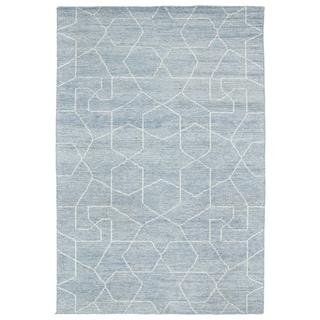 Handmade Collins Light Blue & Slate Nomad Rug (8'0 x 11'0) - 8' x 11'