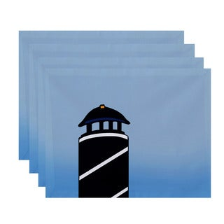18x14-inch Safe Harbor (navy one) Geometric Print Placemat (Set of 4)