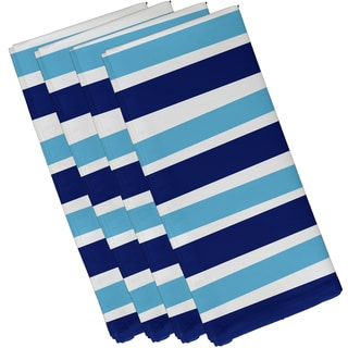 19 x 19-inch Stripes Stripe Print Napkin (Set of 4)