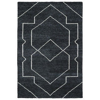 Handmade Collins Charcoal & Ivory Nomad Rug (8'0 x 11'0)