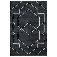Handmade Collins Charcoal & Ivory Nomad Rug - 8' x 11'