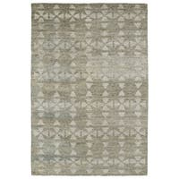 Handmade Collins Oatmeal & Light Taupe Nomad Rug - 8' x 11'