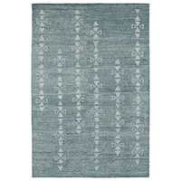 Handmade Collins Ice Blue & Light Blue Nomad Rug - 5' x 7'9""