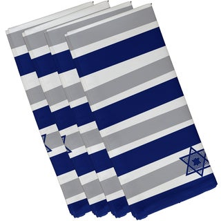 19 x 19-inch Star Stripes Stripe Print Napkin (Set of 4)