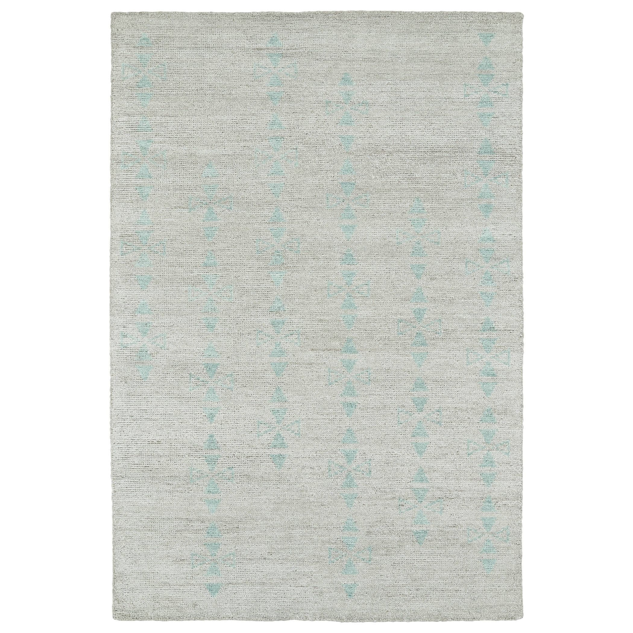 Bombay Home Handmade Collins Silver & Turquoise Nomad Rug...