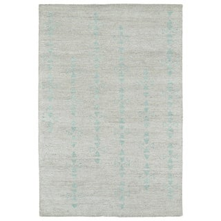 Handmade Collins Silver & Turquoise Nomad Rug (2'0 x 3'0)