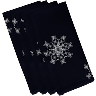 19 x 19-inch Falling Snow Geometric Print Napkin (Set of 4)