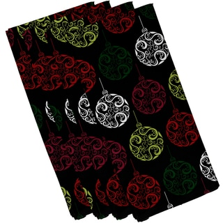 19 x 19-inch Painterly Bulbs Geometric Print Napkin (Set of 4)