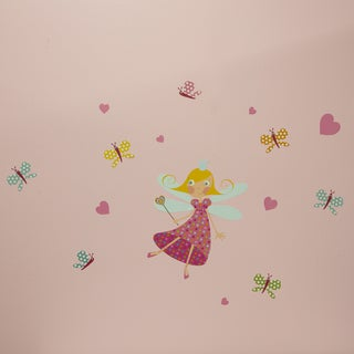 South Shore Joy Fairy and Butterflies Pink/Blue Vinyl Wall Decals Set