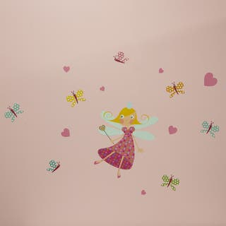 South Shore Joy Fairy and Butterflies Pink/Blue Vinyl Wall Decals Set|https://ak1.ostkcdn.com/images/products/11925719/P18814439.jpg?impolicy=medium