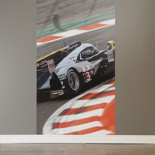 South Shore Luka Race Car Gray/Red Vinyl Wall Decal