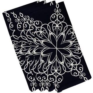 19 x 19-inch Snowflake Geometric Print Napkin (Set of 4)
