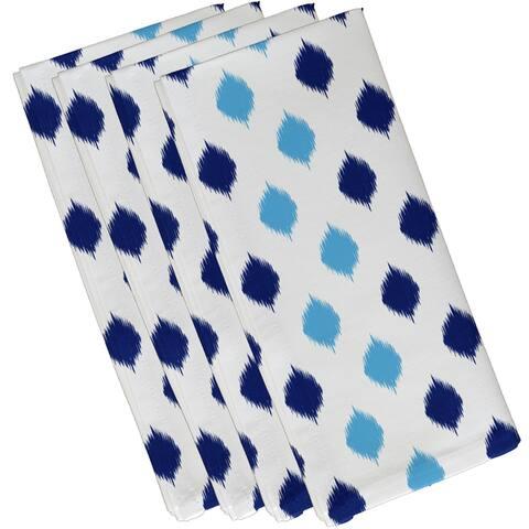 19 x 19-inch Ikat Dot Stripes Geometric Print Napkin (Set of 4)