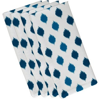 19 x 19-inch Ikat Dot Stripes Geometric Print Napkin (Set of 4)