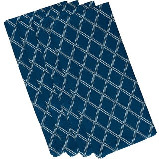 19 x 19-inch Diamond Dots Geometric Print Napkin (Set of 4)