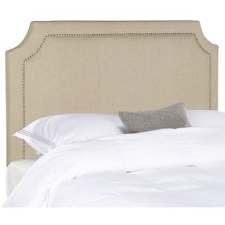 Safavieh Shayne Hemp Linen Upholstered - Silver Nailhead (Queen)