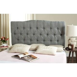 Safavieh Axel Grey Linen Upholstered Tufted Headboard (Full)