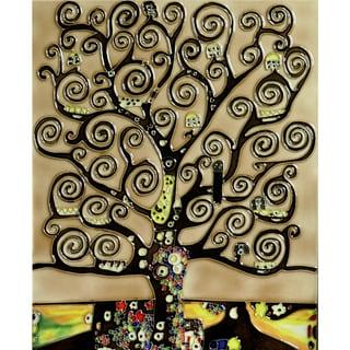 Gustav Klimt 'Tree of Life' Trivet/Wall Accent Tile (felt back)