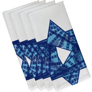 19 x 19-inch Star Mosaic Geometric Print Napkin (Set of 4)