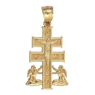 Decadence 14k Yellow Gold Caravaca Cross Pendant