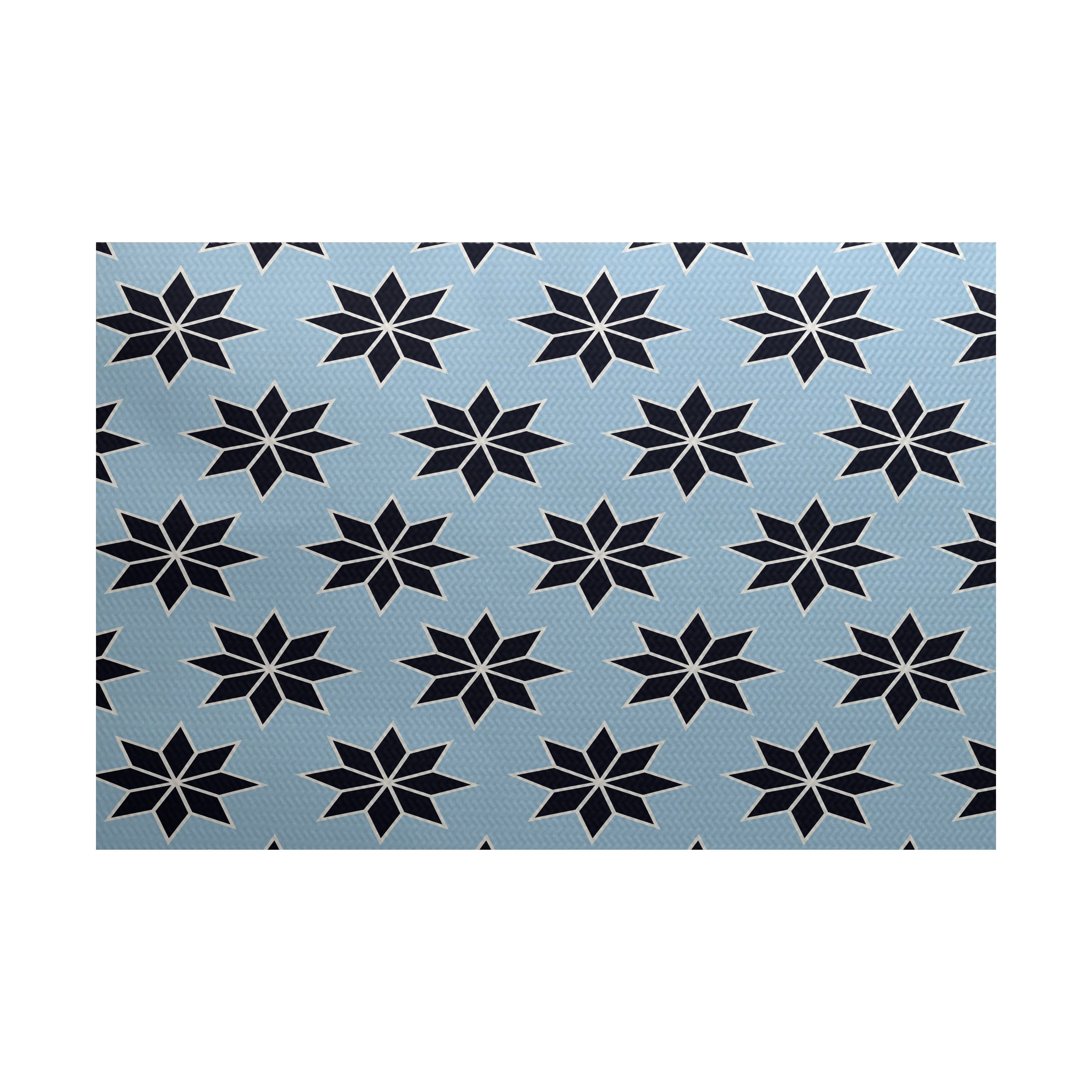 E by Design Christmas Stars 2 Geometric Print Indoor/ Out...