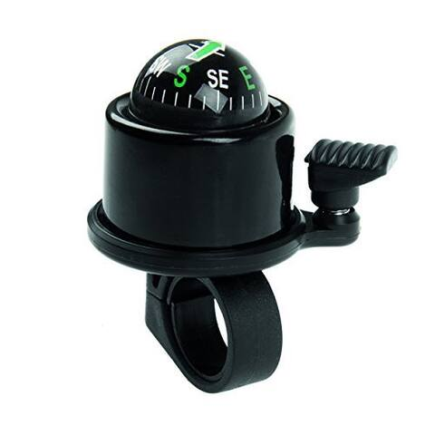 GGI Black Aluminum Compass Bicycle Bell