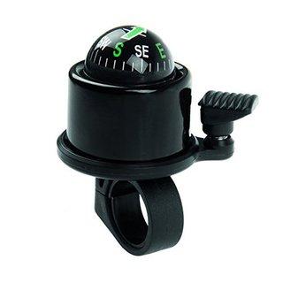 GGI Black Aluminum Compass Bicycle Bell