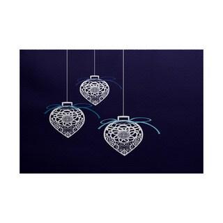 Filagree Ornaments Geometric Print Indoor/ Outdoor Rug (2' x 3')