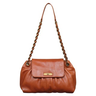 Marc Jacobs Mae Whiskey Brown Shoulder Handbag