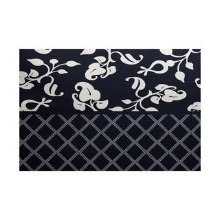 Scroll Dot Floral Print Indoor/ Outdoor Rug (2' x 3')